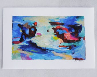 Waves - 4x6 art print