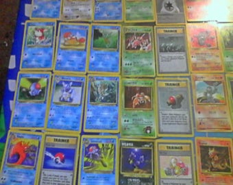 36 Authentic Vintage Collectible Japanese & American Pokemon Cards