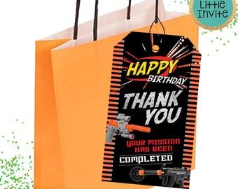 Dart Thank You Cards // Dart Birthday // Dart Party // Dart Party Tags // Dart Birthday Invitation // Dart War // Dart Favor Tags