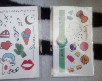 Kawaii temporary tattoos