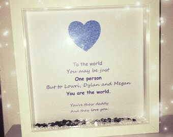 Gift for dad, gift for grandad, dad box frame, grandad box frame, personalised frame, personalised gift, gift for dad