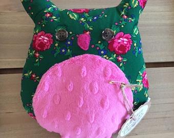 Green Goralski Fabric Owl Plush