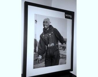 Tupac 16x20 BLOCK FRAME