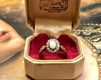 Vintage Opal Diamond Ring