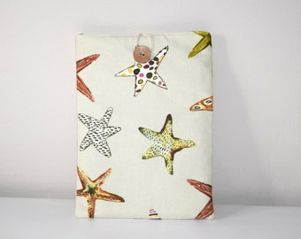 iPad Cover Case, Starfish Tablet Cover, Ocean iPad Cover, Padded iPad Cover, Starfish iPad Case, Fabric Tablet Cover, iPad Case, iPad Cover