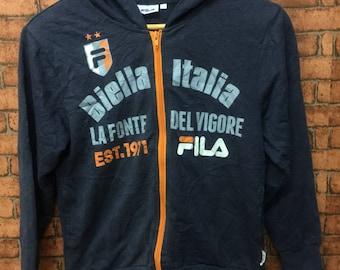 FILA Biella Italia La Fonte Del Vigore Long Sleeve Hoodies Jackets Sportwear Size 140 kids Wear