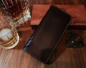 Personalized wallet, Horween Chromexcel Long Wallet, mens leather wallet, minimalist wallet, travel wallet, front pocket wallet, slim wallet