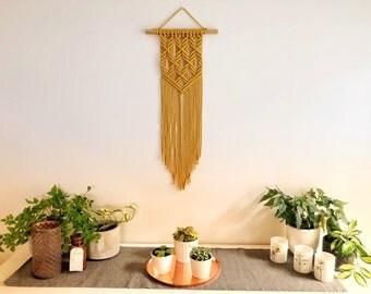 READY TO SHIP | Macrame Wall Hanging | Mustard