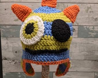 Hand made crochet Monster hat