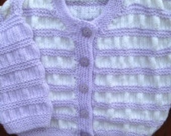 Sold to be sent with an existing order. Sale  Price  Reduced  by 10% baby cardigan.
