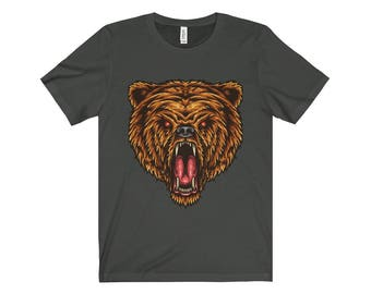 Angry Bear Design Unisex Jersey Short Sleeve Tee