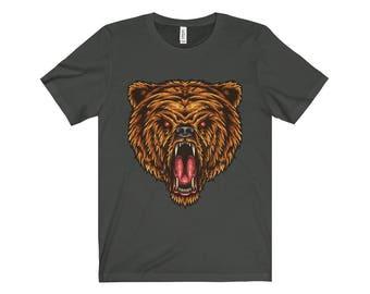 Angry Bear Design Unisex Jersey Short Sleeve Tee