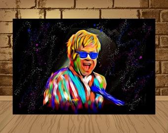 elton john poster,elton john print,elton john art,beatles poster,beatles art,beatles print,rock poster,rock art,music art,home decor,art