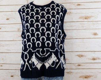 Horse Head Sweater Vest