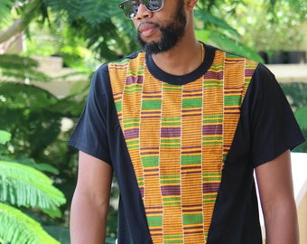 African print on tshirt