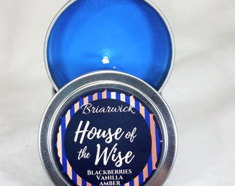 House of the Wise- 4 oz. Candle- Wizard Inspired- Soy Vegan Candle