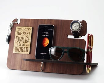 Anniversary Gift ,Birthday Gift for Men,Gift for Dad,Fathers Day Gift,Boyfriend Gift,iPhone Docking Station,Gift for Husband,Gift for Dad