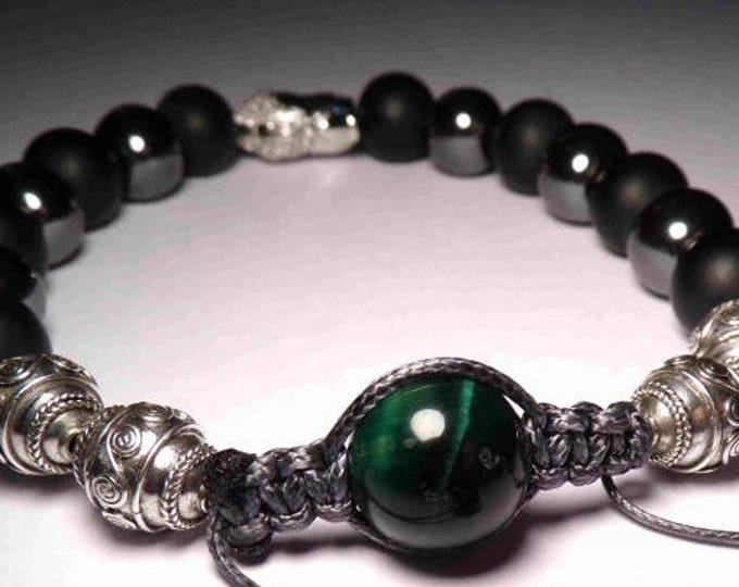 Bracelet shamballa Malachite