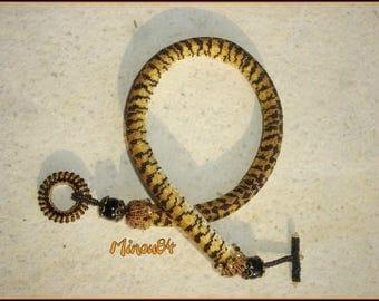 Spiral crochet mesh Leopard