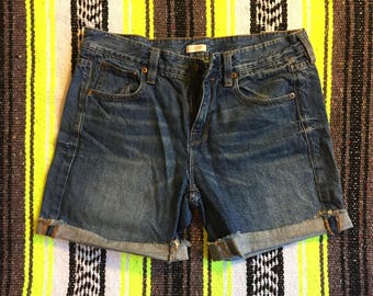 J. Crew Distressed Denim Cuffed Shorts Size: 25 Womens