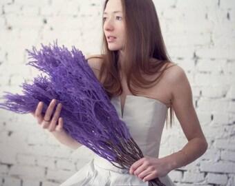 Strapless High-Low Asymmetric Hem Wedding Dress