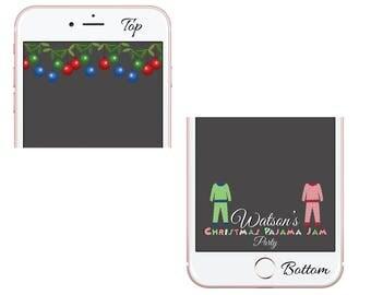 Christmas Geofilter, Christmas Snapchat Filter, Christmas Party Snapchat Geofilter, Enchanted Christmas, Christmas Filter, Holiday Filter