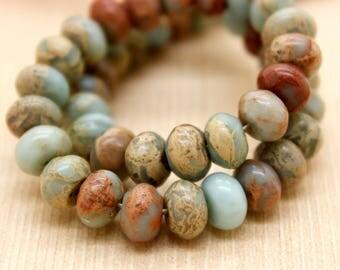 Snake Skin Jasper Rondelle Gemstone Beads (2mm x 4mm, 4mm x 6mm, 5mm x 8mm, 6mm x 10mm, 6mm x 12mm)