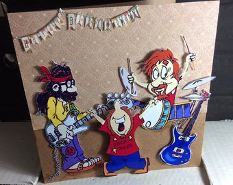 birthday card for a music lover, especially rock and roll