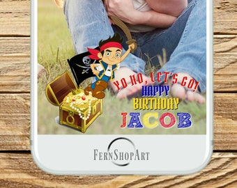 Jake and the neverland pirates Snapchat Filter, Pirate Filter, Pirate Snapchat, Pirate Party, Jake and the neverland pirate geofilter