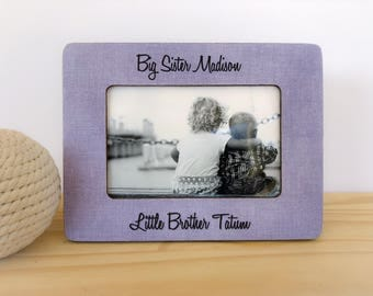 Big Sister Little Brother Frame. siblings frame. Nursery decor. Brothers picture frame. Sisters picture frame. Personalized Frame