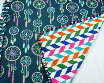 Boho Dream Catcher Fleece Blanket