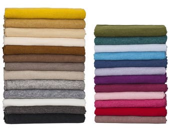 Soft Jersey, Knit Purl Brushed Fabric, 26 Colors, Baby Photography Backdrop, Quality Fabric & Material, Sewing and Crafts, Neotrims Textiles