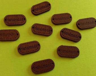 Hand-made (handmade) wooden sewing labels