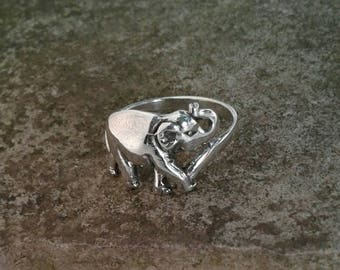 Elephant Ring, Solid Sterling Silver Elephant Ring, Safari Jewelry, Elephant Jewelry