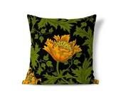 Floral Pillow Sham - 22 Inch Pillow - William Morris Pillow - Victorian Pillow - Accent Pillow - Textured Pillows - Throw Pillow Cover