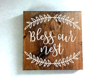 bless our nest wood sign, housewarming gift, wedding gift, kitchen decor