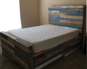 pallet bedroom set pallet bed etsy 12787
