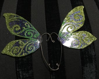 Lovely Yellow Green Butterfly Earwings/ Ear Cuffs