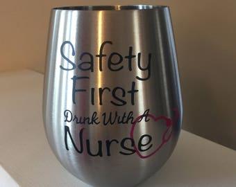 Stainless Steel wine glass, Nurse, Wine Tumbler