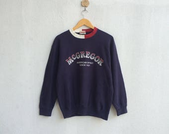 Vintage 90's McGregor Sweatshirt Embroidery Spellout Nice Design