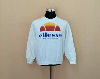 Vintage 90's Ellesse Sweatshirt Big Logo Spell Out Nice Design