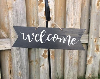 Small Welcome Sign, Handlettered Calligraphy - Can be customized with your Message!