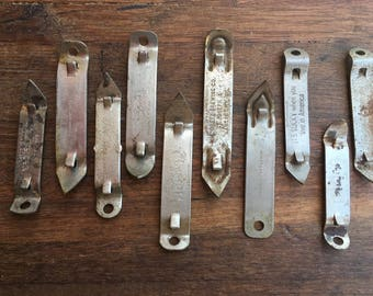 """10 Vintage """"Church key""""/Can Openers"""