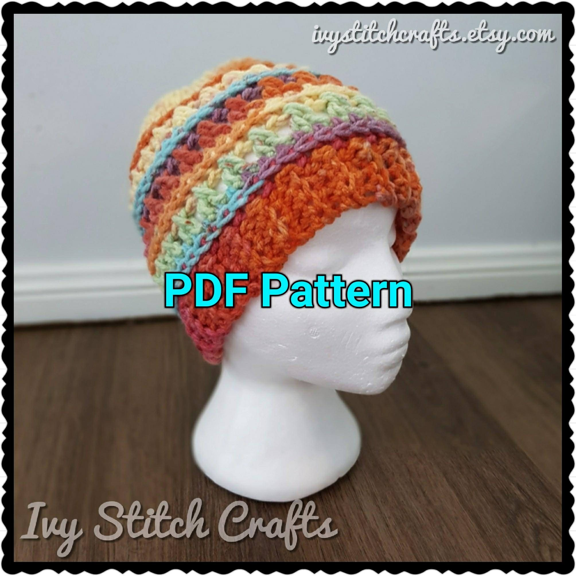 Crochet kisses beanie pattern winter hat chunky yarn textured this is a digital file baditri Images