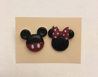 Mickey and Minnie Earrings