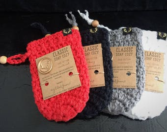 Crochet Classic 100% Cotton Soap Cozy - Soap Saver - Great Gift!