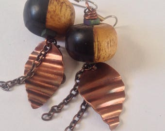 Wood and Copper Dangles
