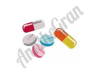 Medicine Pills - Machine Embroidery Design