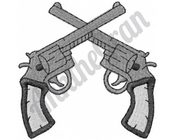 Guns machine embroidery design