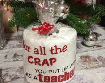 Novelty Toilet Roll Christmas Birthday Gift Teacher Nurse Doctor Mother Sister etc
